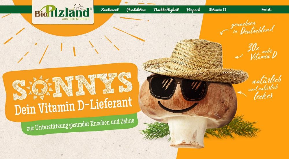 "The first bio / organic Vitamin D Mushrooms named ""SONNYS Vitamin D Pilze"" will be presented at BIOFACH 2019 by BioPilzland (picture: www.biopilzland.de)"